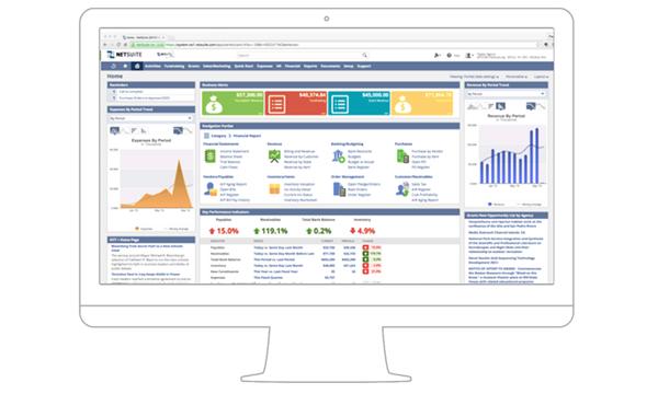 Computer Desktop with NetSuite platform displayed, NetSuite customizations