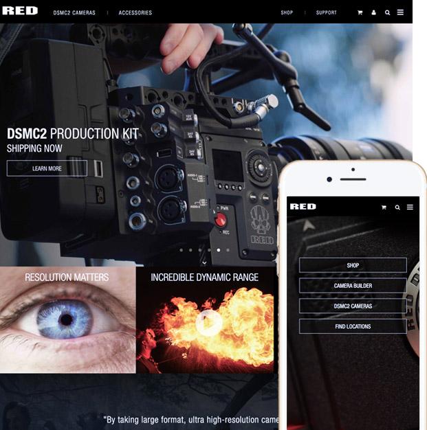 RED.com desktop and mobile image