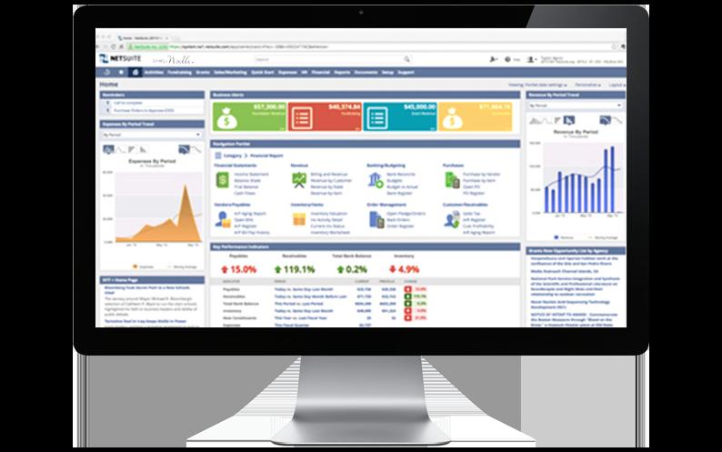 Computer Desktop with NetSuite platform displayed, Simply Noelle, NetSuite Case Studies