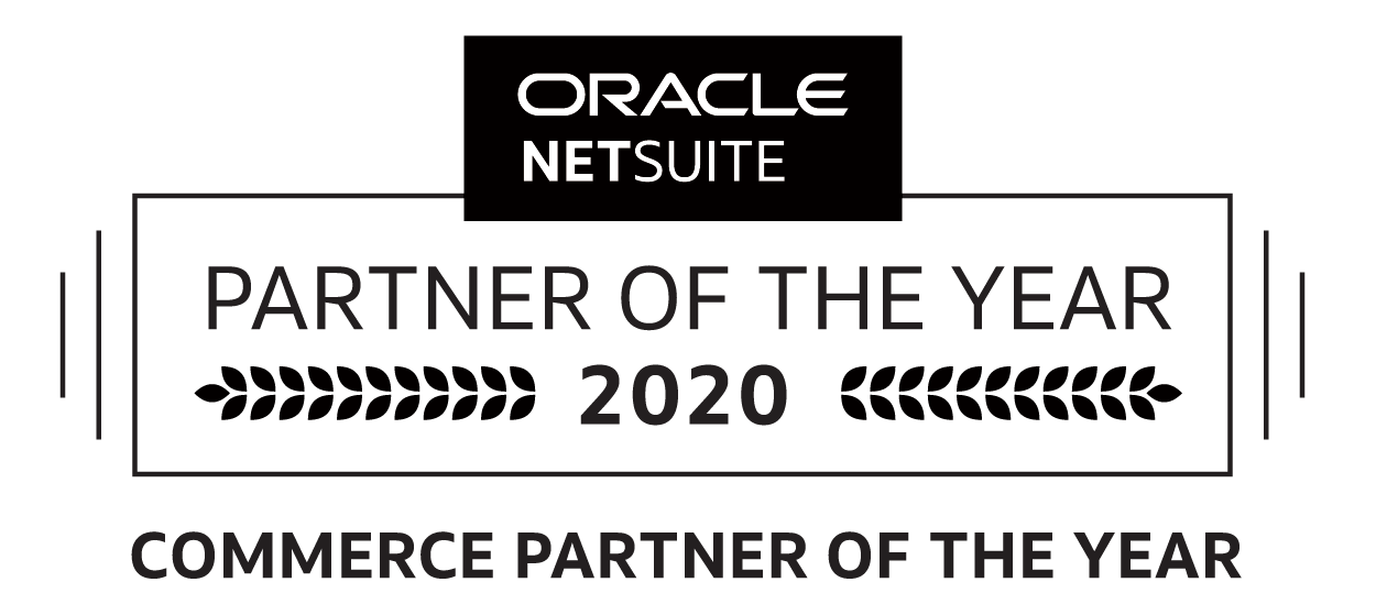 Oracle NetSuite Commerce Partner of the Year 2020 logo, SuiteCommerce Advanced