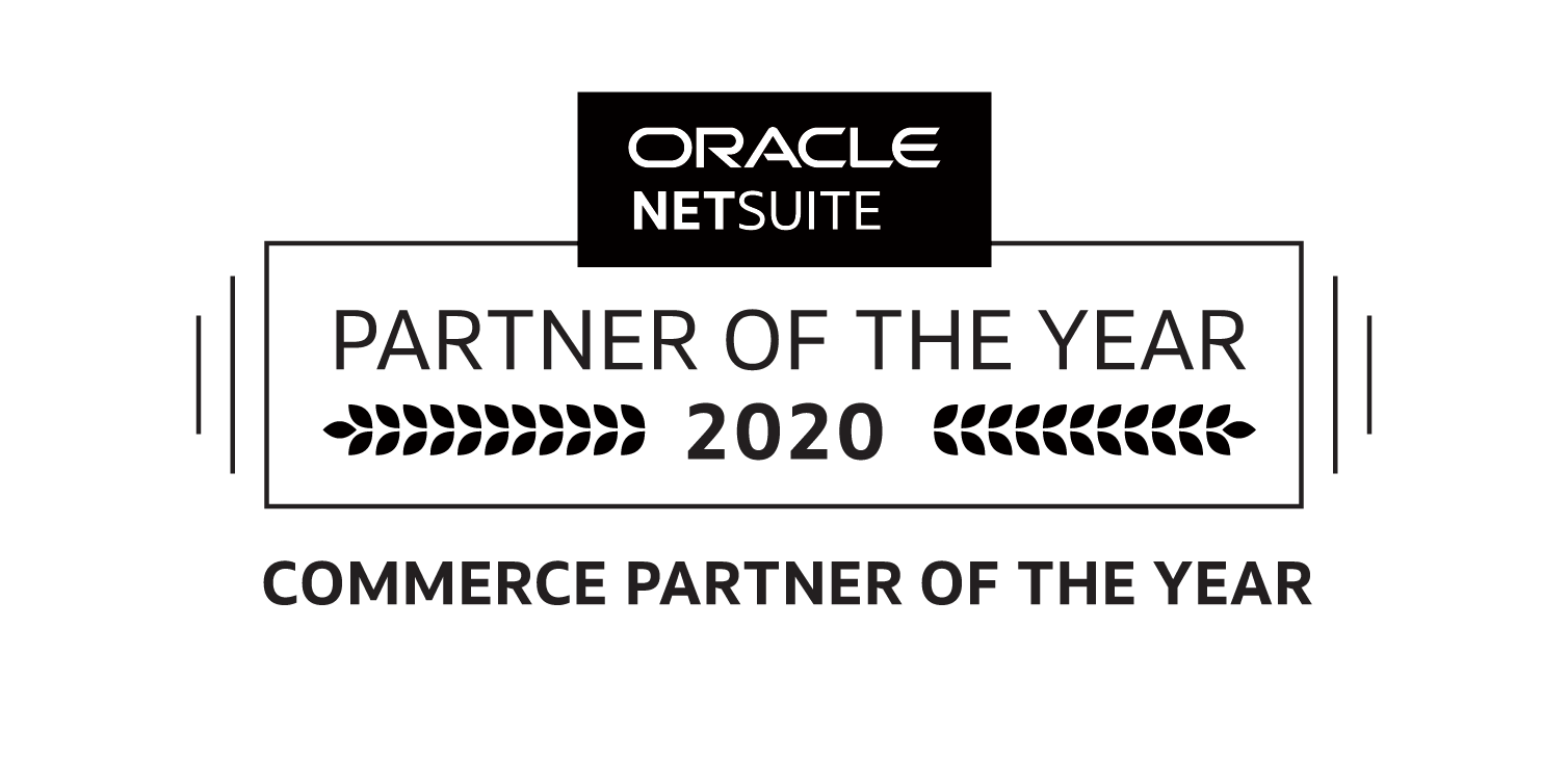 NetSuite Commerce Partner of the Year logo, SuiteCentric