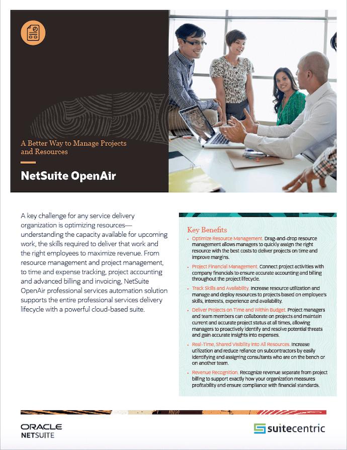NetSuite OpenAir - SuiteCentric