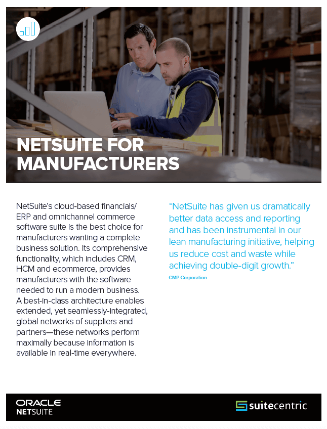 NetSuite for Manufacturers - PDF image, SuiteCentric