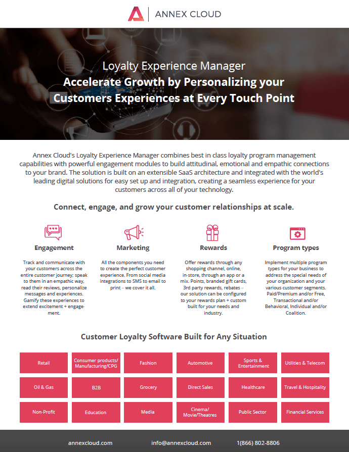 Annex Cloud - Loyalty Experience Manager - Image, NetSuite Datasheets